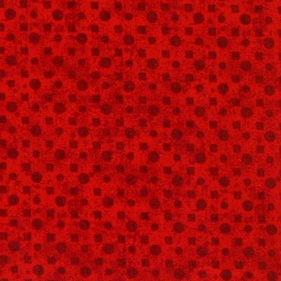 Cotton - Red Tonal Dots
