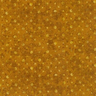 Cotton - Ecru Gold Tonal Dots