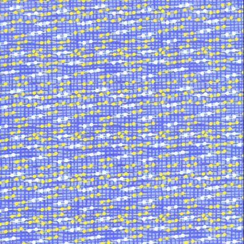 Cotton - Classic Yellow Dotted Grid Blue