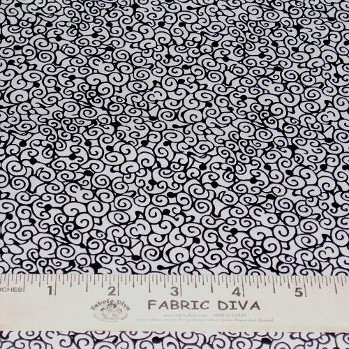 Cotton - 73038 Doodles  Black/White