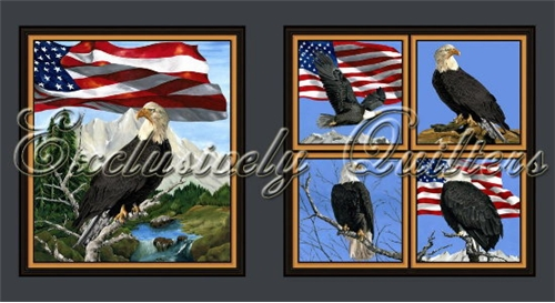 Cotton - America the Beautiful Eagle Panel