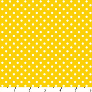 Cotton -Dots Yellow/White