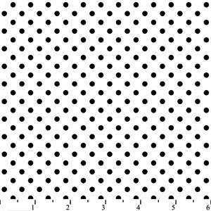 Cotton - 77008 Dots White/Black