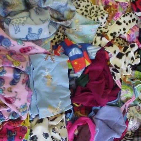 Fleece Fabric Remnant Mixed Bits And Pieces - 7 lbs*
