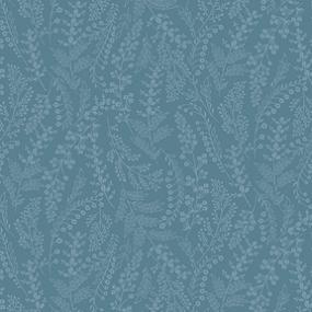 Cotton - Fern Field Cyan Blue