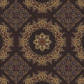 Cotton - Columbus Circle Brown 5/8 yard remnant SALE!