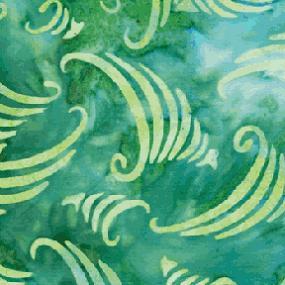 Cotton Batik - Cornucopia Sea Green