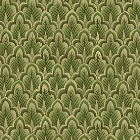 Cotton - Pine Tree Scallops Sage