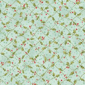 Cotton - Holly Criss Cross Aquamarine