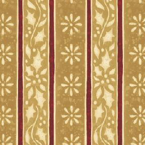 Cotton - Holly Stripe Gold