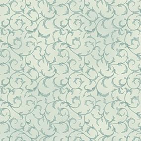 Cotton - Scroll Blue