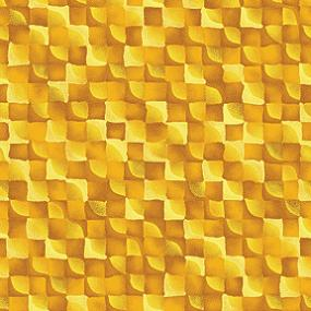 Cotton - Mini Checker Board Gold