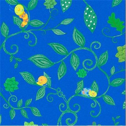 Cotton - Cute as A Bug Vines Blue