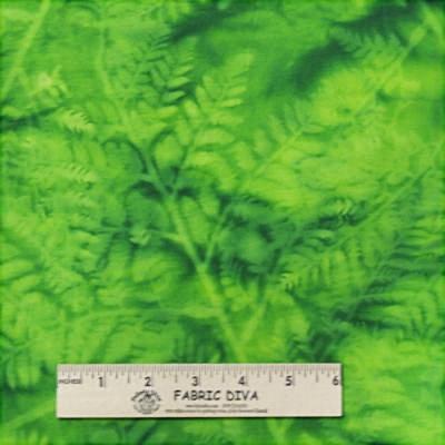 Cotton Batik - Sun Print Green