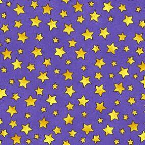 Cotton - Twinkle Stars Periwinkle