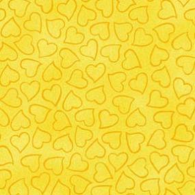Cotton - Heart Toss Yellow