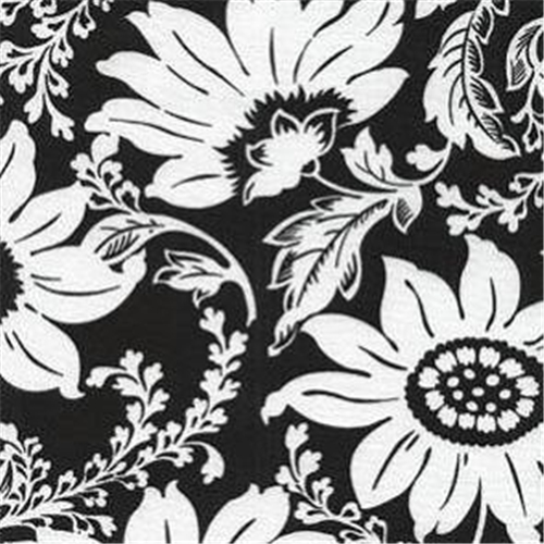 Cotton -  Sunflowers Black/White