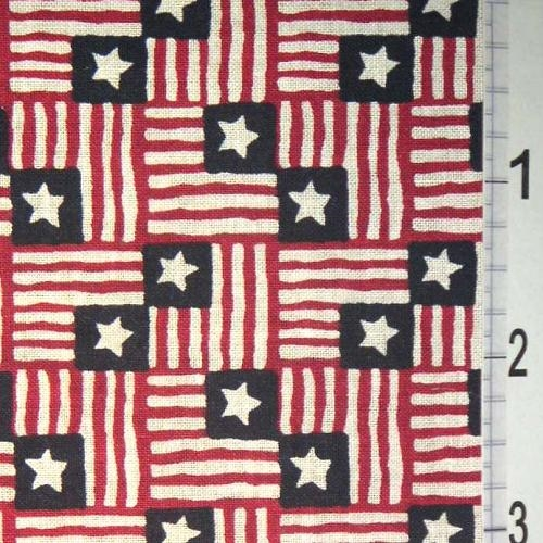Cotton -Small USA Flag Squares