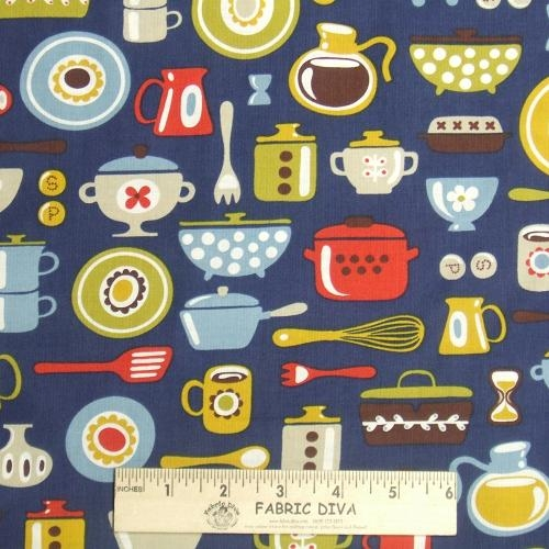 Cotton - Kitchen Pots & Pans Navy