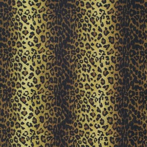Variegated Leopard  Fleece Fabric
