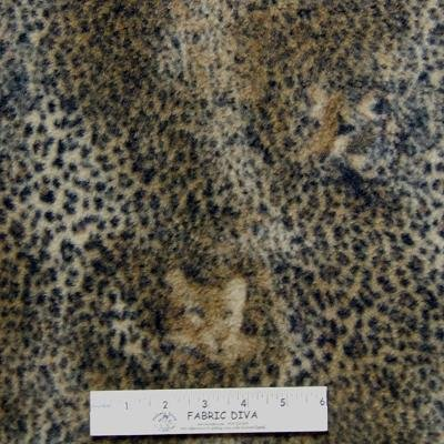 Jaguar Faces & Skin Fleece Fabric