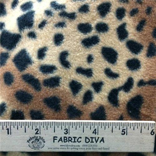 Jungle Spot Antipill Fleece Fabric
