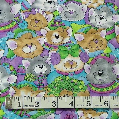 Cotton - Jolly Holiday Purple Toss