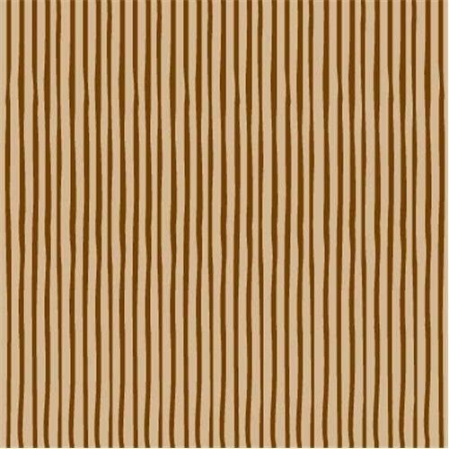Flannel Fabric - Brown Tan Stripe Flannel Fabric
