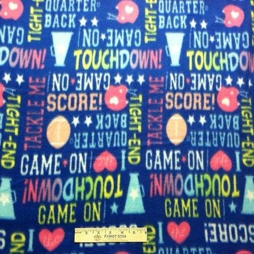Cheerleader Football Fleece Fabric