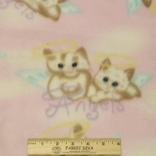 <B>LAST 2 YARDS</B>  Angel Kitten Pink Fleece