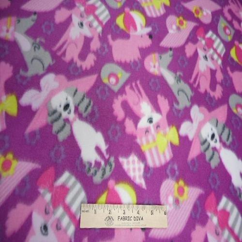 Dogs in Hats Heavy Fleece Fabric