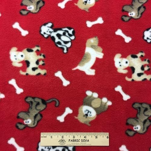 Playful Dog Antipill Fleece Fabric