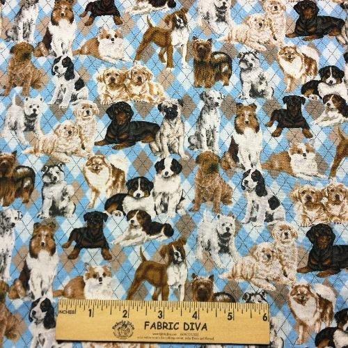 Cotton - Dog Breed Argyle Blue