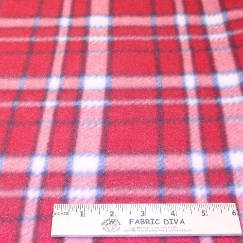 American Plaid Fleece Fabric