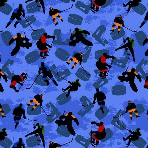 Ice Hockey Player Antipill Fleece Fabric