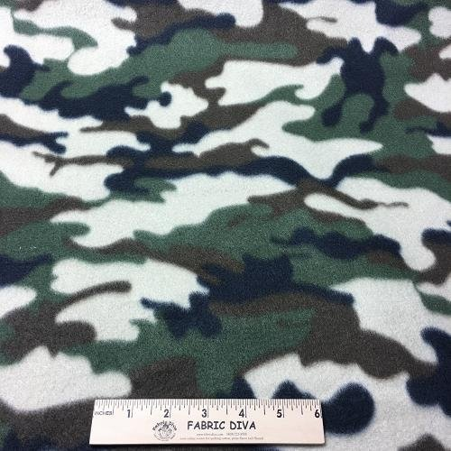 Traditional Camouflage Fleece Fabric