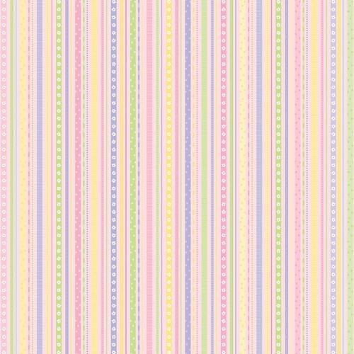 Flannel Fabric - Itty Bitty Stripe Pink Flannel Fabric Lilac