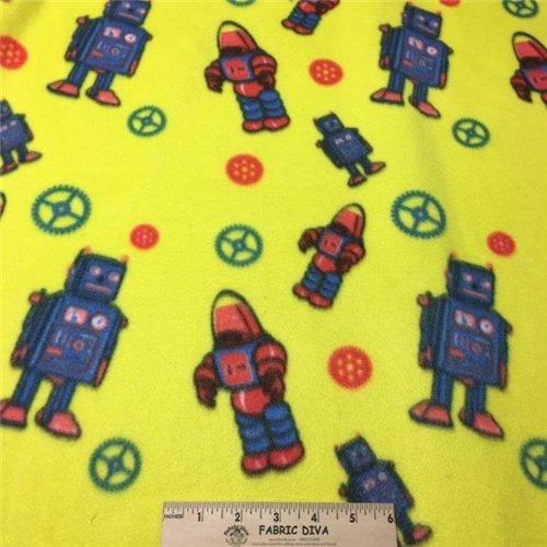 <B>sale! LAST  YARD</B> Robot Fleece Fabric