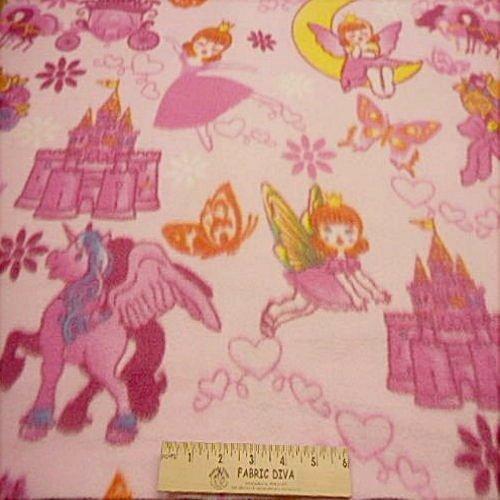 Princess Castle Fleece Fabric