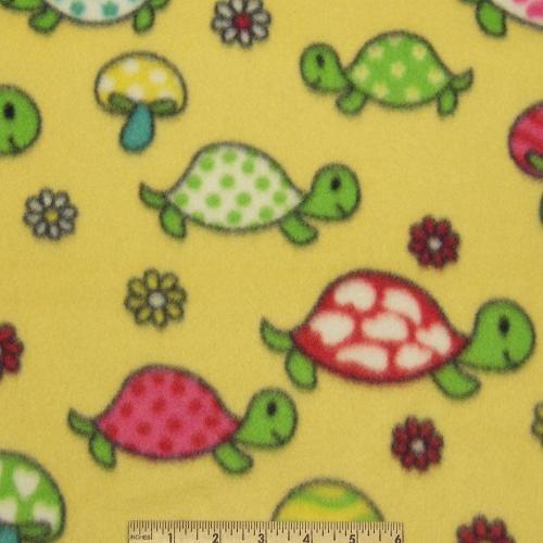 <B>2 YARDS</B>Girly Turtle Fleece