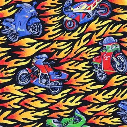 Motorcycle & Flame Antipill Fleece