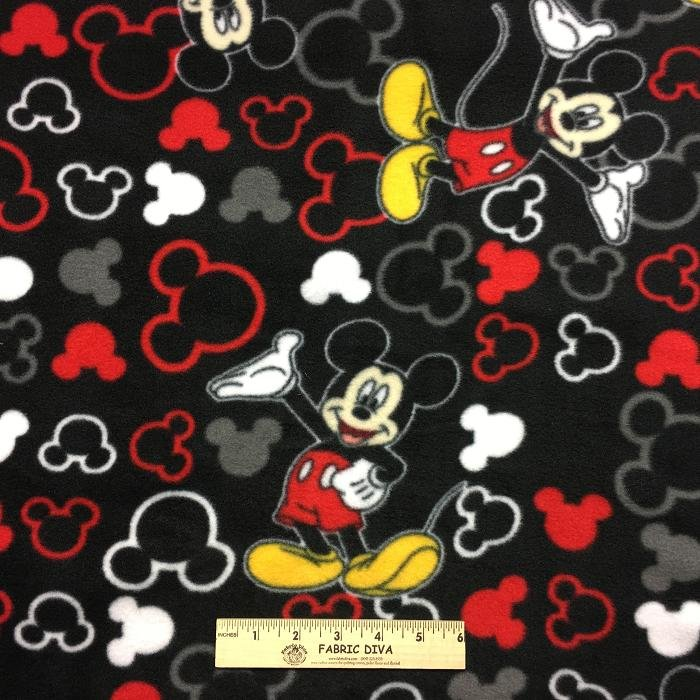 Disney Mickey Mouse Posing Antipill Fleece LAST YARD!