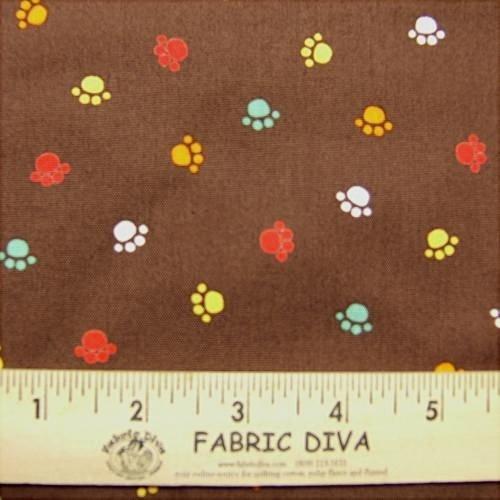 Cotton - Multicolor Paws Brown