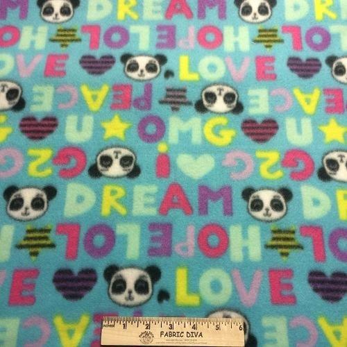 Panda Face Fleece Fabric