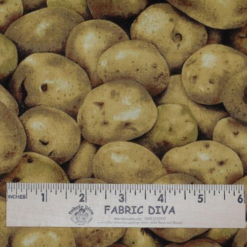Cotton - Potato Potatoe Fabric