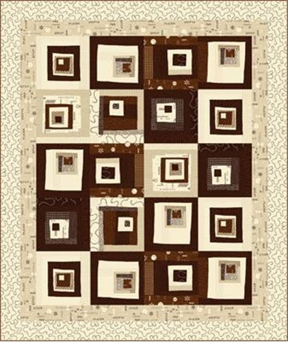 Quilt Kit Word Play Made Easy Brown Quilt Kit