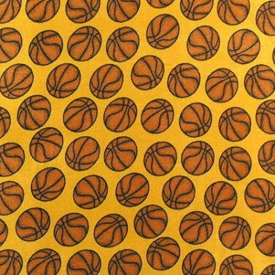 Basketball Gold  Fleece Fabric