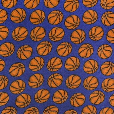 Basketball Blue  Fleece Fabric