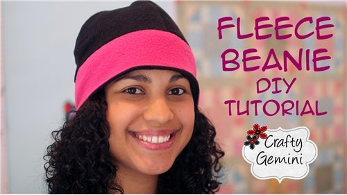 Solid Color Reversible Fleece Beanie Hat Kit - ships for FREE!