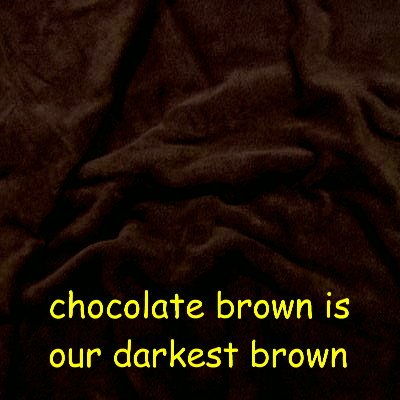 Chocolate Brown Solid Fleece Fabric